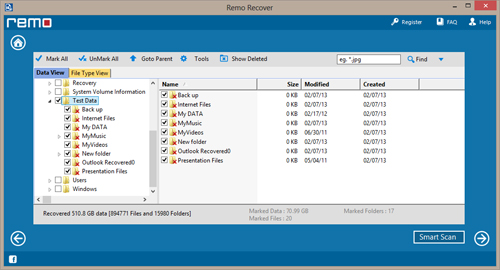Recover Partition after Quick Format - Preview Recovered data