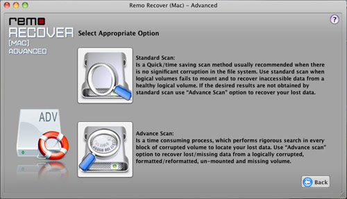 Restore Partition from Mac OS X Lion - Advance Scan Method